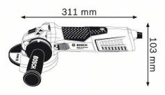 Polizor unghiular GWS 15-125 INOX