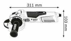 Polizor unghiular GWS 17-125 CIT