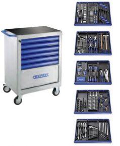 Servanta mobile cu 7 sertare si set de scule cu 285 piese