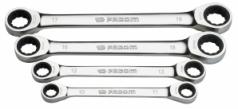 Set 4 chei inelare cu clichet cu 12 laturi metrice