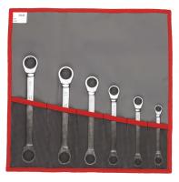 Set 6 chei inelare cu clichet cu 12 laturi metrice si in toli