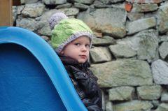 Caciula copil Kid Twist Navy Grigio