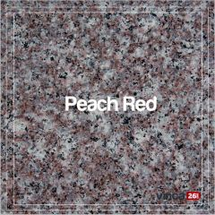Blat Granit Peach Red 2cm, decupaj rotund