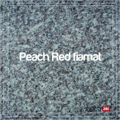 Lastra granit fiamat Peach Red