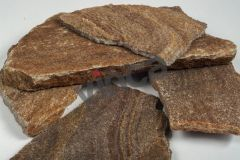 Piatra naturala gneiss maron rustic forme mici