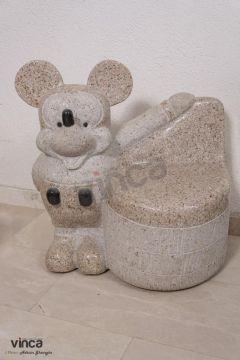 Scaun granit Micky Mouse