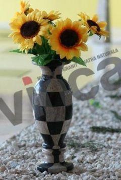 Vaza Caro Gri/Negru