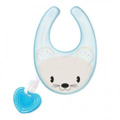 Baveta Chicco 3 in 1 Gummy Bib Boy