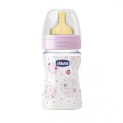 Biberon Chicco WellBeing PP, girl, 150ml, t.c., flux normal, 0+luni, 0%BPA