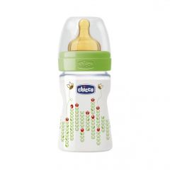 Biberon Chicco WellBeing PP, unisex, 150ml, t.c., flux normal, 0+luni, 0%BPA