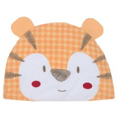 Caciula bebelusi Chicco, alb cu portocaliu, 48