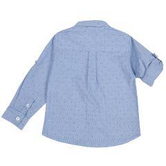 Camasa copii Chicco, maneca lunga, albastru cu roz, 128