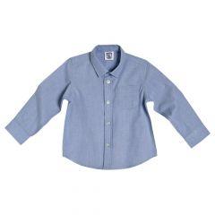 Camasa maneca lunga Chicco, bleu, poplin, 92