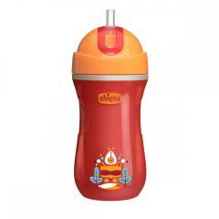 Canuta sport Chicco, cu pai, orange, 14luni+