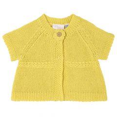 Cardigan copii Chicco, tricotat, fetite, galben, 96313