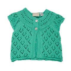 Cardigan tricotat copii Chicco, verde menta, 56
