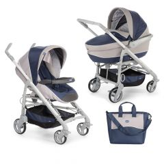 Carucior 2 in 1 Chicco Duo Love Motion, carucior si landou, BluePassion, 0luni+
