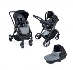 Carucior 3 in 1 Chicco Trio Best Friend Comfort, Stone (Gri), 0luni+