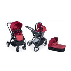 Carucior 3 in 1 Chicco Trio Best Friend Light, Red, 0luni+