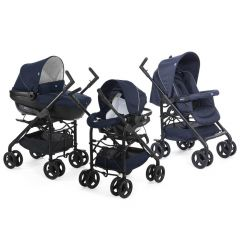 Carucior 3 in 1 Chicco Trio Sprint, car kit, BluePassion, 0luni+