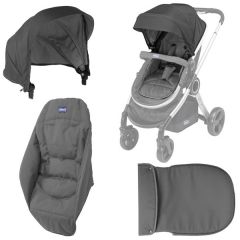 Kit husa carucior Chicco Urban, Anthracite