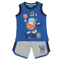 Costumas baieti Chicco, maieu si pantaloni, albastru, 128