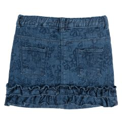 Fustita denim Chicco, elastica, bleumarin cu model, 92
