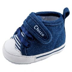 Ghete copii Chicco, albastru denim cu alb, 16