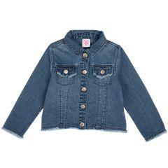 Jacheta copii Chicco, denim elastic, albastru, 128