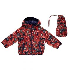 Jacheta copii Chicco, reversibila, bleumarin cu trandafiri, 116