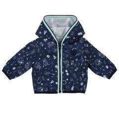 Jacheta impermeabila copii Chicco, bleumarin cu alb, 56