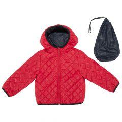 Jacheta reversibila copii Chicco, Thermore, bleumarin si rosu, 110