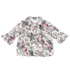 Jacheta copii Chicco, fete, alb cu roz, 68