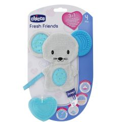 Jucarie gingivala 3 in 1 Chicco Fresh Friends Boy