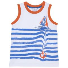 Maieu plaja pentru copii, Chicco, alb cu dungi, 128