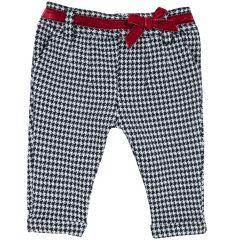 Pantalon copii Chicco, alb cu bluemarin, 56