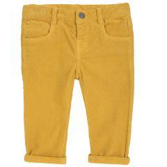 Pantalon copii Chicco, galben, 86