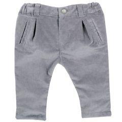 Pantalon copii Chicco, gri inchis, 68