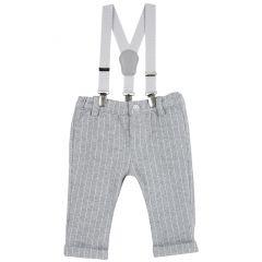 Pantalon copii Chicco, gri inchis, 56