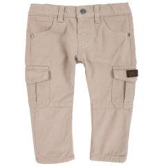 Pantalon copii Chicco, maro deschis, 86