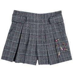 Pantalon copii Chicco, negru cu alb, 128