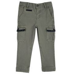 Pantalon copii Chicco, verde, 128
