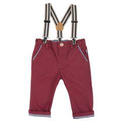 Pantalon copii Chicco, visiniu, 68