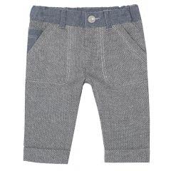 Pantalon lung baietei Chicco, gri cu betelie denim, 24486
