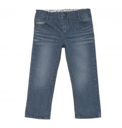 Pantalon lung baieti, Chicco, albastru, 110