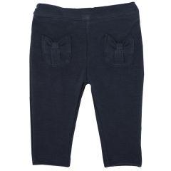 Pantalon lung Chicco, fete, bleumarin, 80