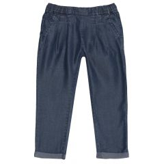 Pantalon lung Chicco, fete, denim, 110