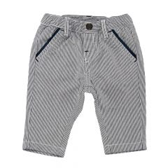 Pantalon lung copii Chicco, baieti, alb cu dungi bleumarin, 56
