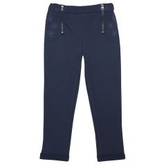 Pantalon lung copii Chicco, denim elastic, albastru, 128