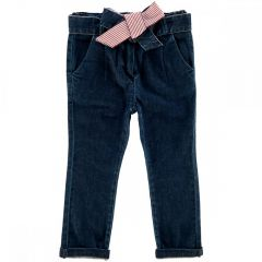 Pantalon lung copii Chicco, denim, fete, 98